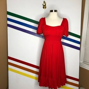NEW Anthropologie red dress